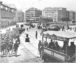 Hotel Metropole, Vienna - Old daguerrotype of the Hotel Metropole in the back