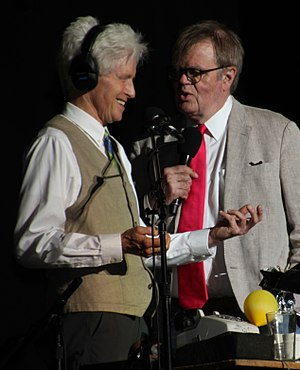 Fred Newman (actor) - Newman performing with Garrison Keillor at the 2017 Minnesota State Fair