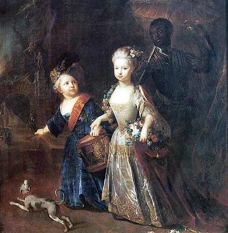 Принц Фридрих с сестрой Вильгельминой