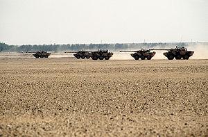 Opération Daguet - French AMX-10 RCs during Operation Desert Shield.