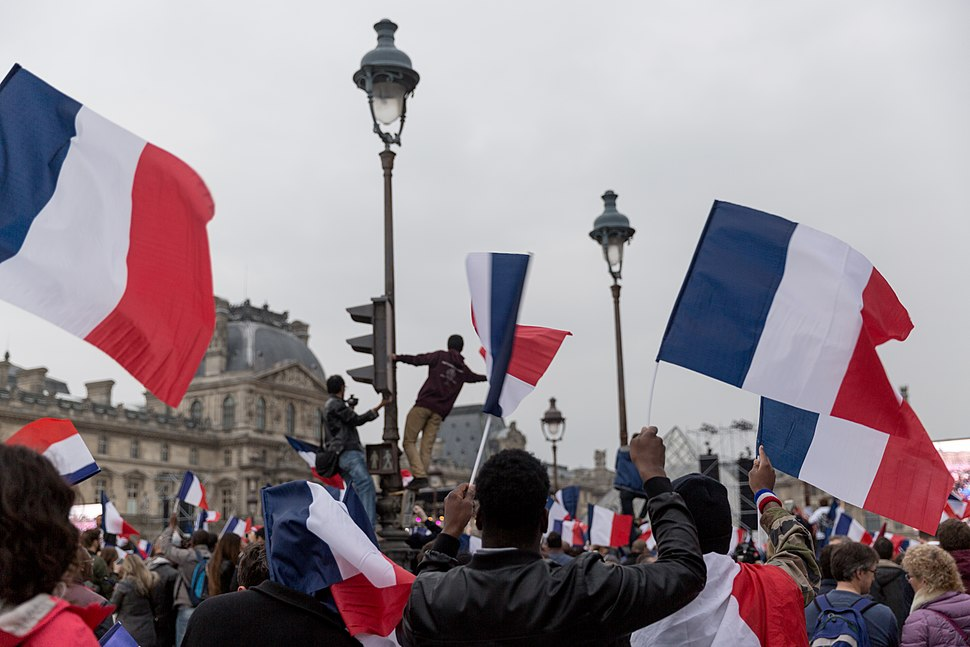 French Election- Celebrations at The Louvre, Paris (33707026433)