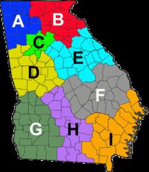 Georgia State Patrol Wikipedia - Geogia state map