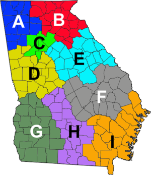 Georgia Department of Public Safety - Image: GA Troop Map
