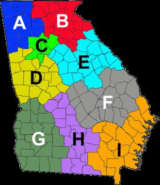 Georgia Department of Public Safety - Image: GA Troop Map