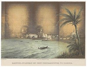 Fort Coenraadsburg - Image: GRAMBERG(1861) p 113 KASTEEL ST.GEORGE EN FORT COENRAADSBURG TE ELMINA