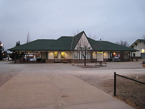 Galesburg station (Amtrak) - The station house.