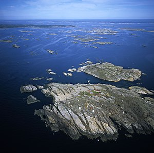 Dike swarm - View of the Kattsund-Koster dyke swarm in the Koster Islands, western Sweden.