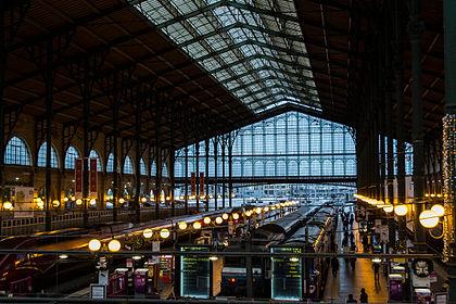 Nádraží Gare du Nord, Paříž, Francie