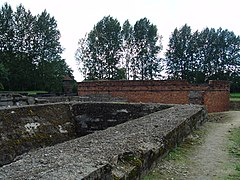 What remains of the gas chambers at Auschwitz II (Birkenau); photographed in 2006.