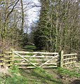 Gate into Landfield Spinney - geograph.org.uk - 146004.jpg