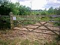 Gate into Lanteague Wood, Llanteg - geograph.org.uk - 1363547.jpg