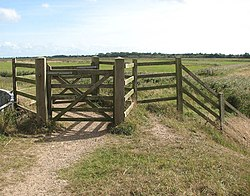 Gate on the Angles Way - geograph.org.uk - 1484314.jpg
