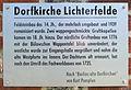 Gedenktafel Hindenburgdamm ggü 109 (Lichf) Dorfkirche Lichterfelde.JPG