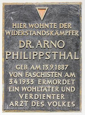 Güsten - Memorial plate Berlin Arno Philippsthal