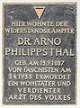 Gedenktafel Oberfeldstr 10 (Biesd) Arno Philippsthal.jpg