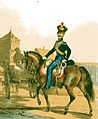 Gendarm des Großherzoglich Mecklenburg Schwerinschen Gendarmeriekorps um 1840.jpg