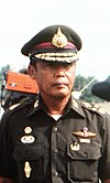 General Saiyud Kerdphol, Supreme Commander of the Royal Thai Armed Forces, reviews the troops at the opening ceremony for Operation MITRAPAB cropped.jpg