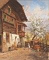 Georg Janny - Springtime on a farm.jpg