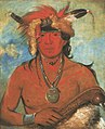 George Catlin - Háh-je-day-ah'-shee, Meeting Birds, a Brave - 1985.66.184 - Smithsonian American Art Museum.jpg