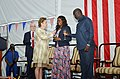 George Weah, Clar Weah and Christine Elder.jpg