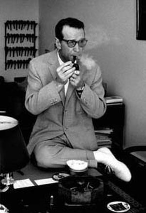 Georges Simenon - Image: Georges Simenon (1963) without hat by Erling Mandelmann