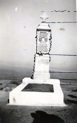 Georgi Sugarev - The tombstone of Sugarev, that after WWII was destroyed by the communist authorities.