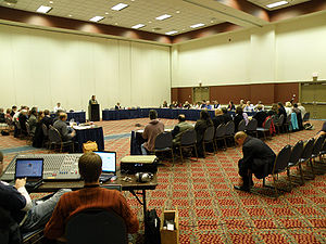 Academic Senate - A meeting of the Academic Senate at Georgia Southern University.