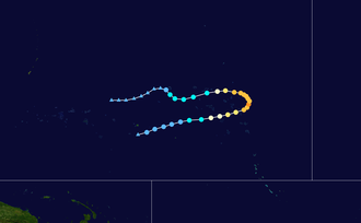 1951 Pacific typhoon season - Image: Georgia 1951 track