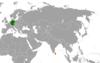Lage von Deutschland und Sri Lanka