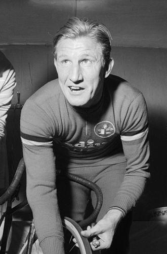Gerrit Schulte - Schulte before his last race in Antwerpen in March 1960