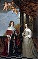 Gerrit van Honthorst - Portret van Friedrich Wilhelm I, keurvorst van Brandenburg (1620-1688) en zijn echtgenote Louise Henriette van Nassau (1627-1667) Rijksmuseum.jpg