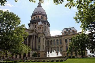 Springfield, Illinois - Present Capitol building, built c. 1868–1888
