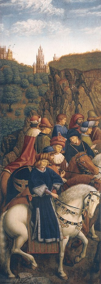 Art theft - Image: Ghent Altarpiece E Just Judges by Vanderveken