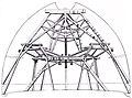 Giovan battista nelli (attr.), ricostruzione dei ponteggi interni della cupola di brunelleschi, seconda metà del XVII sec., gabinetto disegni e stampe.jpg