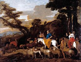Giovanni Benedetto Castiglione - Jacob Leading the Flocks of Laban - WGA4546