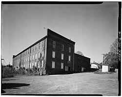 Glencoe Cotton Mills, Glencoe, formerly owned by the Holt family, now shuttered