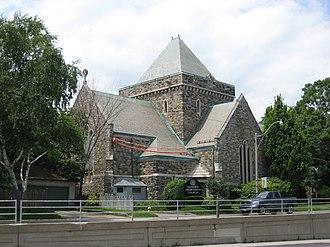 Lytton Park - View of Glenview Presbyterian Church in Lytton Park