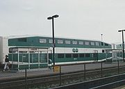 A GO train in Toronto.