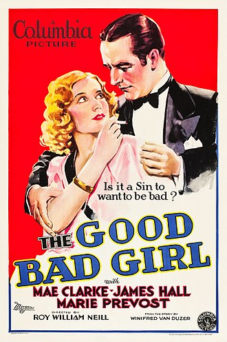 James Hall (actor) - Poster for The Good Bad Girl (1931)