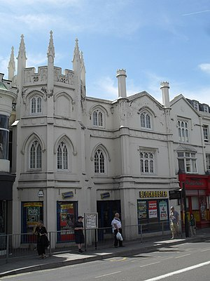 Gothic House - The building from the northeast in 2010, when occupied by a Blockbuster store