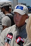 Governor Mitch Daniels during his visit to a sandbag filling site in Vincennes, Indiana.jpg
