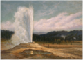 Grafton Tyler Brown, Old Faithful Geyser, Yellowstone National Park, 1887.tif