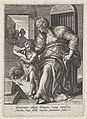 Grammatica, Johann Sadeler (I), after Maerten de Vos, Cornelis Cort, and Frans Floris (I), 1560 - 1600, engraving, 15.0 by 10.8 cm.jpg