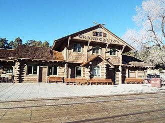 Grand Canyon Village, Arizona - Historic Grand Canyon Railroad Depot