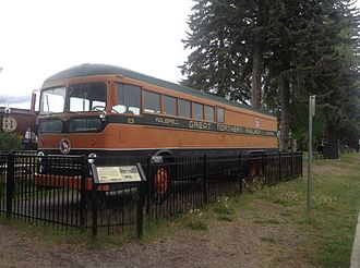 Bruck (vehicle) - A preserved 1951 Kenworth bruck displayed at the Whitefish Depot.