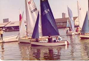 Greenland Dock - The ILEA water sports centre, early 1980's