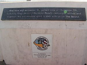 Gregory Jarvis - Memorial at Hermosa Beach