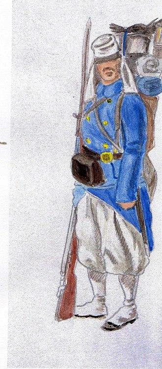 Belgian Legion - Grenadier in Mexico, 1866