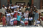 Group photo of the USAID funded educational scholarship beneficiaries in Peshawar. (14544509910).jpg