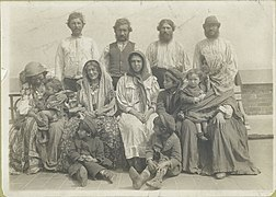 Group photograph captioned 'Hungarian Gypsies all of whom we - (3110152632).jpg